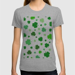 Green Shamrock Pattern T-shirt