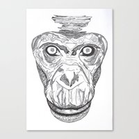 ape Canvas Prints featuring Ape by Eugene Lee