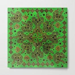 Shamrock Clover Celtic Ornament Metal Print