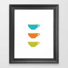 Coffee Cups Framed Art Print
