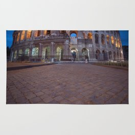 Colosseum at night Rug
