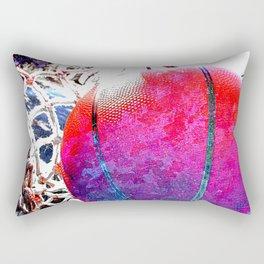 Unique basketball art vs 2- Sports artwork Rectangular Pillow