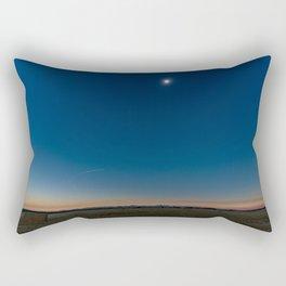 Solar Eclipse Totality Over Grand Tetons Rectangular Pillow