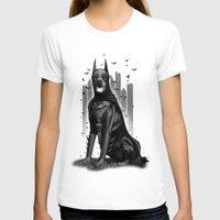 doberman T-shirts featuring DOBERMAN by ADAMLAWLESS