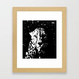 Leopard Night Framed Art Print
