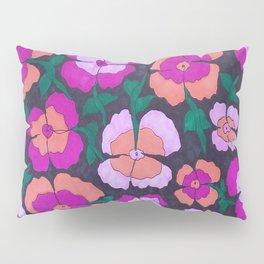 Summery Floral Garden Print Pillow Sham