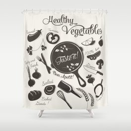 Health Vegetables Shower Curtain