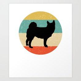 Norwegian Buhund Dog Gift design Art Print