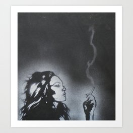 White On Black Art Print