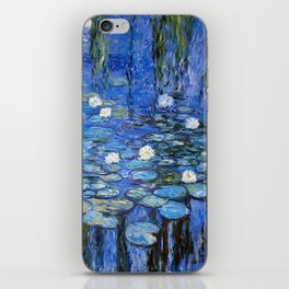 waterlilies a la Monet iPhone Skin