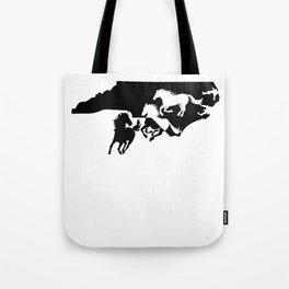 North Carolina Colonial Spanish Horse Lover Black Tote Bag