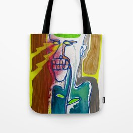 The man with the eyes of death rays was seen in the mirror first and last time Tote Bag