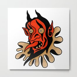 Face your demons. Metal Print