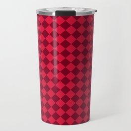 Crimson Red and Burgundy Red Diamonds Travel Mug