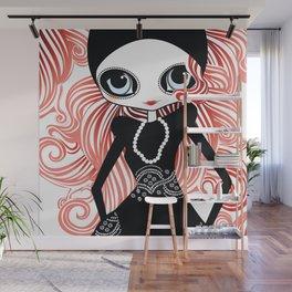Miss Tresses Wall Mural