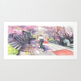 Bicycle Boy 01 Art Print
