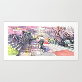 Bicycle Boy 01 Art Print