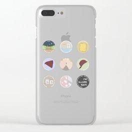 EVAK: A MINIMALIST LOVE STORY Clear iPhone Case