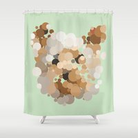 terrier Shower Curtains featuring Terrier  by Glen Gould
