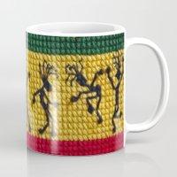 reggae Mugs featuring lively up reggae dancers by dedmanshootn