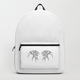 White dragon wings Backpack