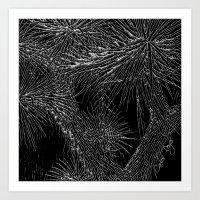 Joshua Tree Silver by CREYES Art Print