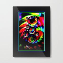 Neon Globes Metal Print