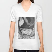 poker V-neck T-shirts featuring Poker by vooduude