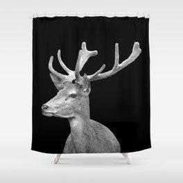 Deer Black Shower Curtain
