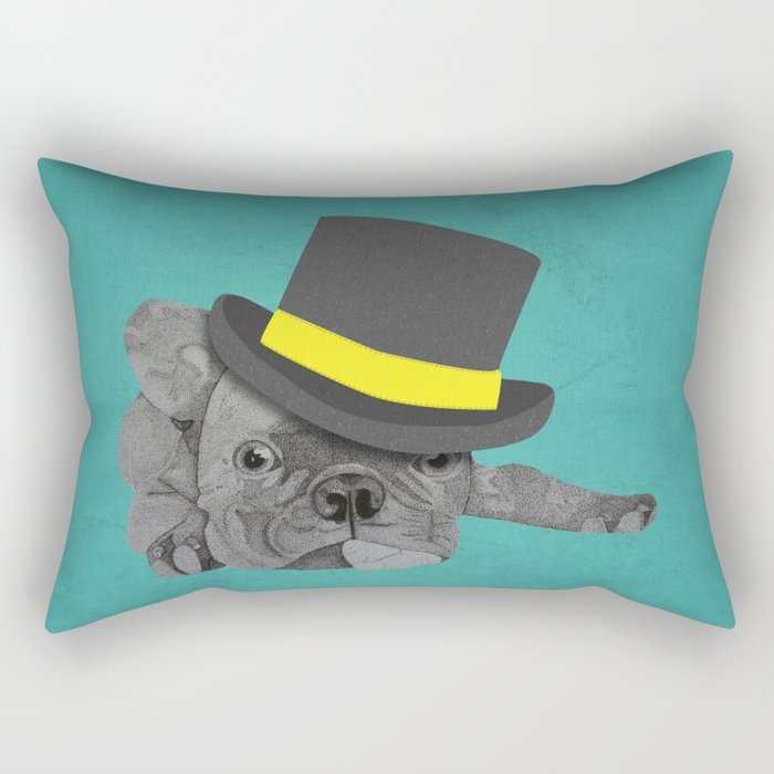 Dapper Dog - French Bulldog Rectangular Pillow