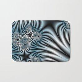 Blue Zebra Fractal Bath Mat