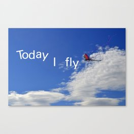Today I fly  Canvas Print
