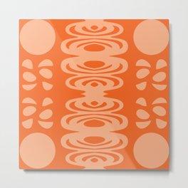Orange And Peach Pattern Metal Print