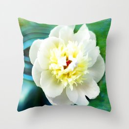 Summer White Throw Pillow