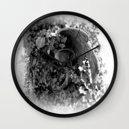 Angel in the ivy Wall Clock