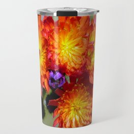 Orange Hawkweed Travel Mug