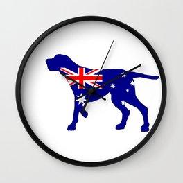 Australian Flag - Redbone Coonhound Wall Clock