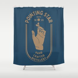 POINTING STAR Shower Curtain