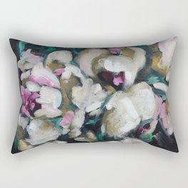 Blurred Vision Series - Blush Peonies No. 1 Rectangular Pillow