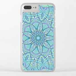 Heart of the Forest - Mandala Design Clear iPhone Case