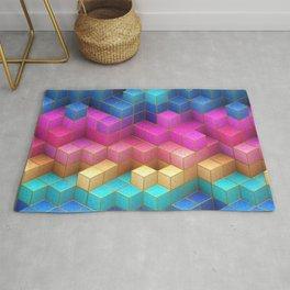 Cubed Rainbow Rug
