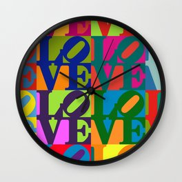 Love Pop Art Wall Clock