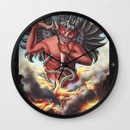 The Devil and black magic Wall Clock