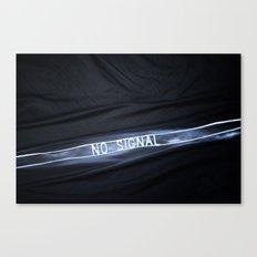 NO SIGNAL Canvas Print