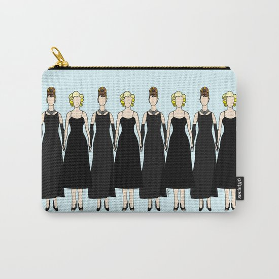 Little Black Dress of Audrey Marilyn Carry-All Pouch