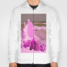 Shells and starfishes in pink Hoody