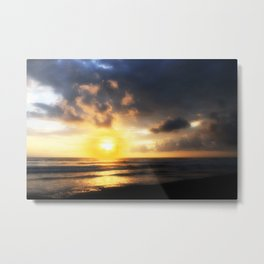 Sunset on Playa Dominical Metal Print