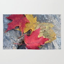 Red and Gold Leaves Rug