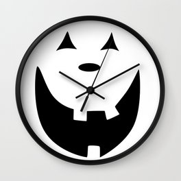 Happy Jack O'Lantern Face Wall Clock