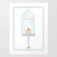 happy birthday Art Prints featuring Happy birthday by Babiole Design